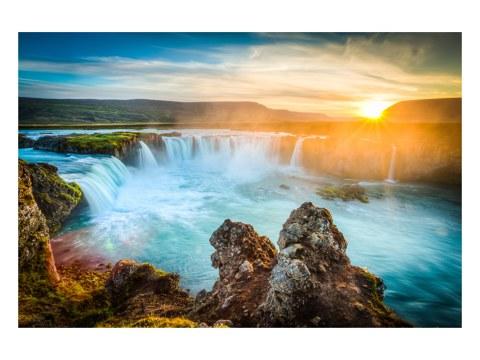 Wasserfall Island Bild