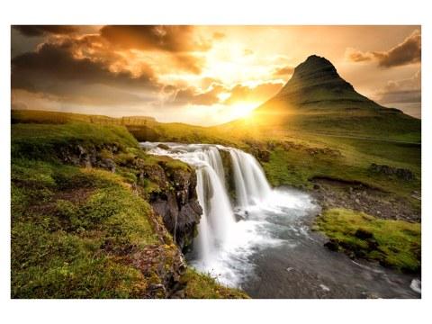 Wasserfall Island Motiv