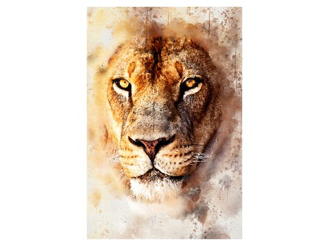 Watercolor lion